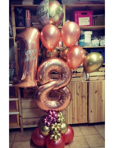"Chiffre ""8"" 86 cm kiddy balloons.be waterloo"