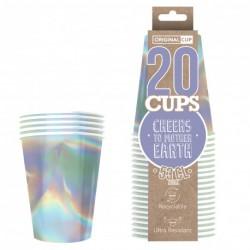 Original cup argent scintillant