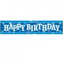 Bannière Happy Birthday bleu