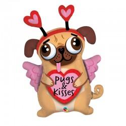 Ballon Chien Pugs and Kisses