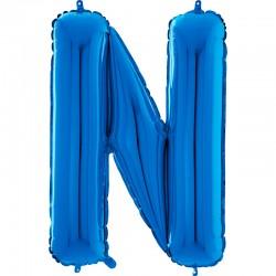 "Lettre ""N"" 66 cm bleu"