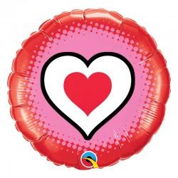 Ballon rond avec coeur