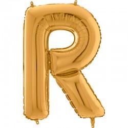 """Lettre """"R"""" 66 cm gold"""