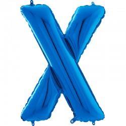 """Lettre """"X"""" 66 cm blue"""