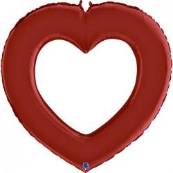 Contour Coeur rouge