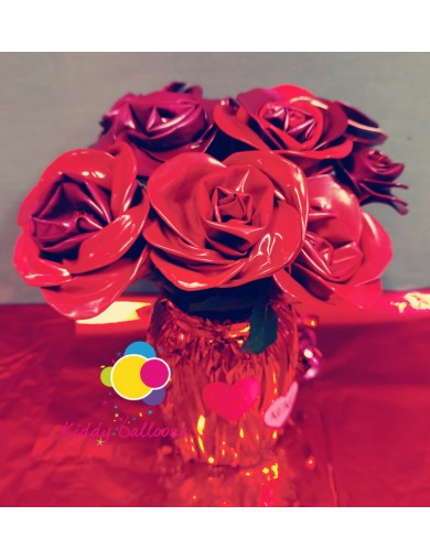 Roses en ballons