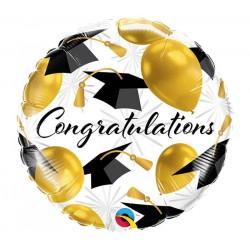 Congratulations décor doré