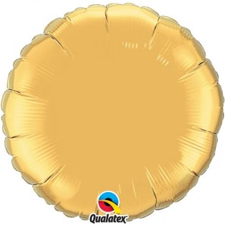 Rond aluminium Metallic Gold